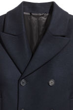 Wool-blend pea coat - Dark blue - Men | H&M GB 3
