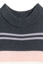 羅紋上衣 - Dark grey/Striped -  | H&M 3