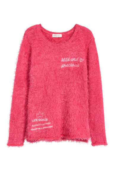 Knitted jumper - Cerise - Kids | H&M CN