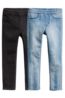 2er-Pack Denimleggings