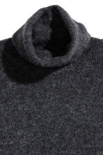 Knitted polo-neck jumper - Dark grey - Ladies | H&M 2