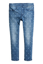 Bleu denim/pois