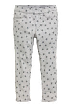 Patterned denim leggings - Light grey/Stars - Kids | H&M CN 2