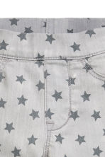 Patterned denim leggings - Light grey/Stars - Kids | H&M CN 4