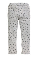 Patterned denim leggings - Light grey/Stars - Kids | H&M CN 3