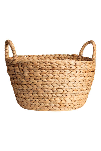 Panier rond en jacinthe d'eau - Naturel - Home All | H&M FR 1