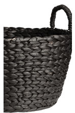 Round Water Hyacinth Basket - Charcoal gray - Home All | H&M CA 2