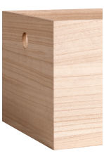 Large wooden box - Natural - Home All | H&M CA 2