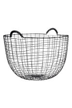 Round metal wire basket - Black - Home All | H&M GB 1
