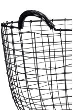 Round metal wire basket - Black - Home All | H&M GB 2
