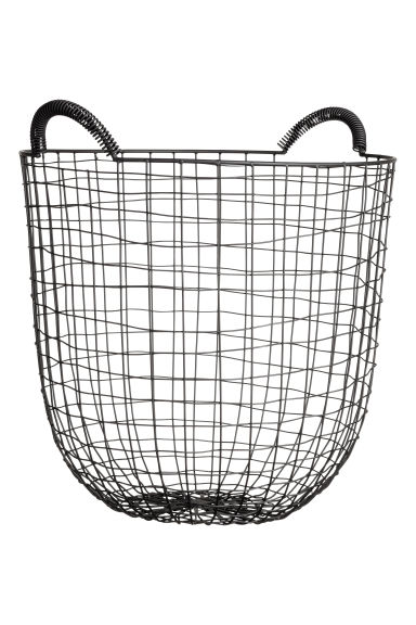 Large wire basket - Black - Home All | H&M CN 1