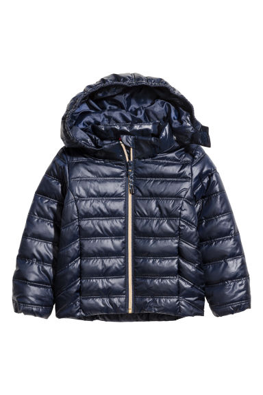 Padded jacket - Dark blue -  | H&M