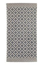 Patterned cotton rug - Natural white/Dark blue - Home All | H&M IE 1