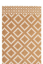 Patterned cotton rug - Natural white/Mustard yellow - Home All | H&M CN 2