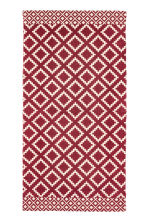 Patterned cotton rug - Natural white/Dark red - Home All | H&M IE 1