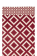Patterned cotton rug - Natural white/Dark red - Home All | H&M CN 2