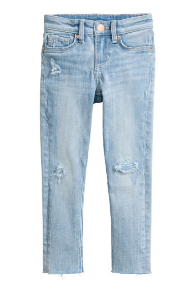 Skinny Fit Worn Jeans - Light denim blue - Kids | H&M