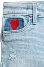 Superstretch Skinny Fit Jeans - Light denim blue/Heart -  | H&M 4