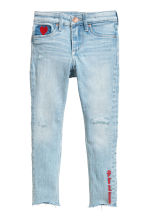Superstretch Skinny Fit Jeans - 淺丹寧藍/愛心 -  | H&M 2