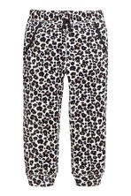 Fleece trousers - Leopard-print - Kids | H&M 2