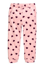 Fleece trousers - Light pink/Hearts - Kids | H&M CN 2