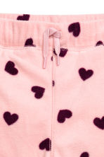 Fleece trousers - Light pink/Hearts - Kids | H&M CN 3