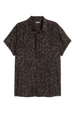 Patterned shirt - Brown/Leopard print - Men | H&M 2