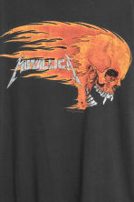 Cotton jersey T-shirt - Black/Metallica - Men | H&M 4