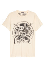 Blanco natural/Guns N' Roses