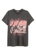 Cotton jersey T-shirt - Dark grey/Pink Floyd - Men | H&M CN 2