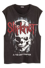 Printed vest top - Black/Slipknot - Men | H&M 2
