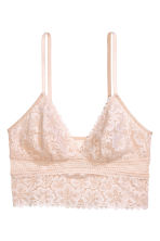 Mesh and lace bralette - Powder beige - Ladies | H&M IE 2