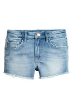 Denim short - High waist - Licht denimblauw - KINDEREN | H&M NL 2