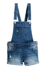 Dungaree shorts - Denim blue - Kids | H&M CN 2