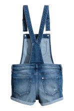 Dungaree shorts - Denim blue - Kids | H&M CN 3