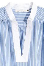 Sleeveless Cotton Blouse - Blue/White/Striped -  | H&M CA 3