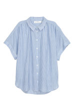 Wide blouse - Blue/White/Striped -  | H&M CN 2
