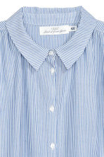 Wide blouse - Blue/White/Striped -  | H&M CN 3