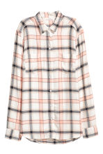 Camicia in flanella - Bianco naturale - DONNA | H&M IT 2