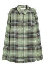 Flannel shirt - Green - Ladies | H&M 2