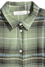 Flannel shirt - Green - Ladies | H&M 3