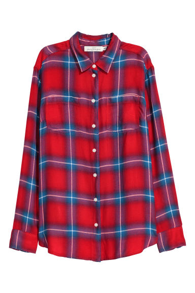 Flannel shirt - Red - Ladies | H&M