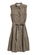 Sleeveless lyocell-blend dress - Khaki green - Ladies | H&M 2
