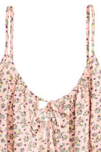 Slip Dress - Powder pink/Floral -  | H&M CN 3