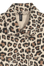 Denim jacket - Beige/Leopard print - Ladies | H&M CN 2