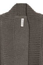 Knitted cardigan - Dark grey - Ladies | H&M 3