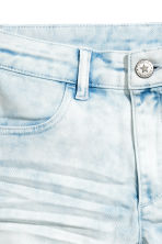 Twill shorts - Denim blue/Acid - Kids | H&M 4