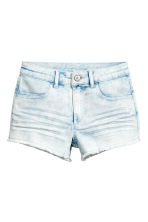 Twill shorts - Denim blue/Acid - Kids | H&M 2