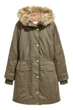 Parka with an inner jacket - Khaki green - Ladies | H&M 2