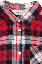 Flannel shirt - Red/Checked -  | H&M CN 3